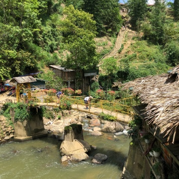 Bridges in Cat Cat Village, Sapa